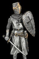 Crusader Figurine with Shield and Sword