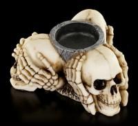 Tealight Holder - Three Wise Skulls