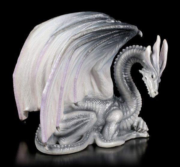 Drachenfigur - Wise Old Dragon of Wisdom - blau-grau