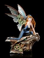 Steampunk Fairy Figurine - Talaria on Dragon Head