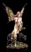 Elfen Figur - Panthora mit schwarzem Panther