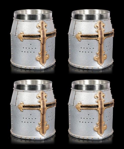 Crusader Shot Cups - Set of 4