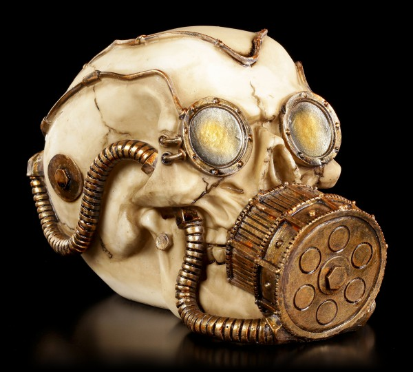 Steampunk Skulll - Mechanical Respirator