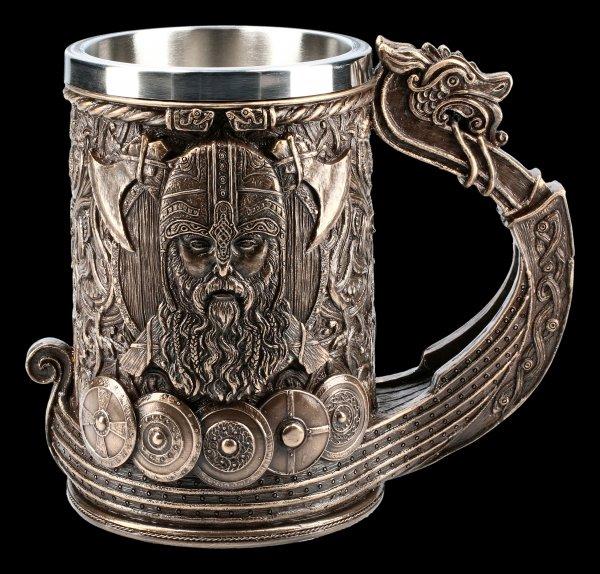 Viking Tankard - Drakkar bronzed