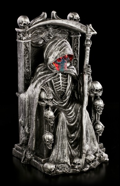 Reaper Figurine on Throne with LED - Soul Keeper