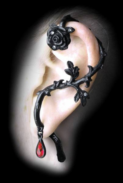 Rose of Passion - Alchemy Gothic Ohrring