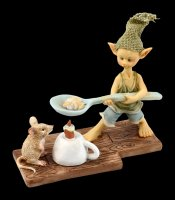 Pixie Goblin Figurine - Popcorn over Candle