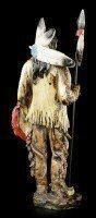 Indianer Figur - Mit Speer und Schild