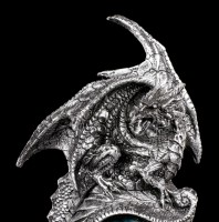 Dragon Figurine with green Eye - Into your Soul
