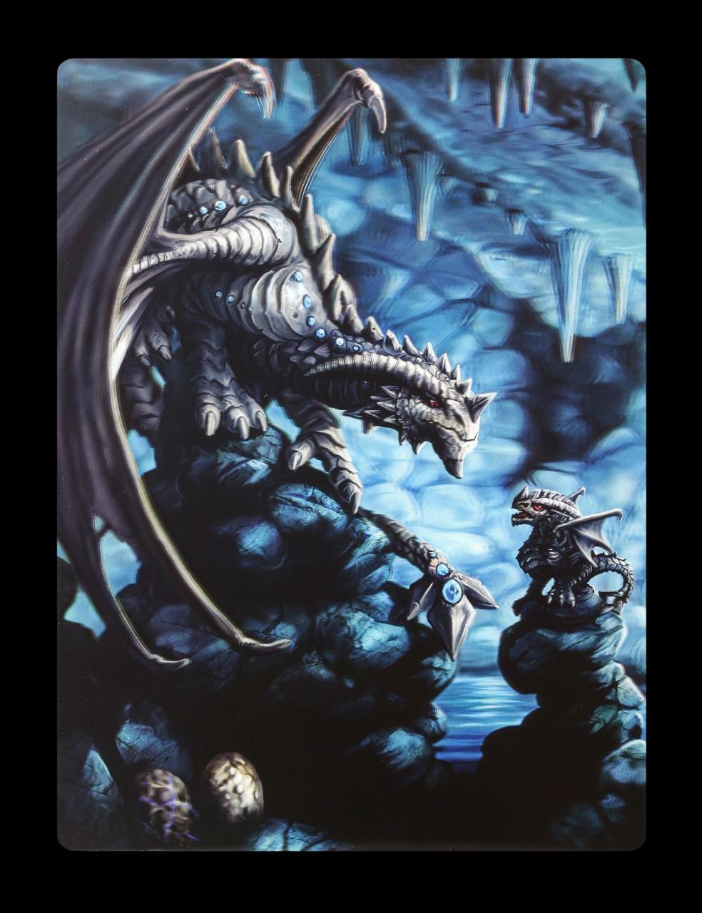 3D Postkarte mit Drache - Rock Dragon by Anne Stokes