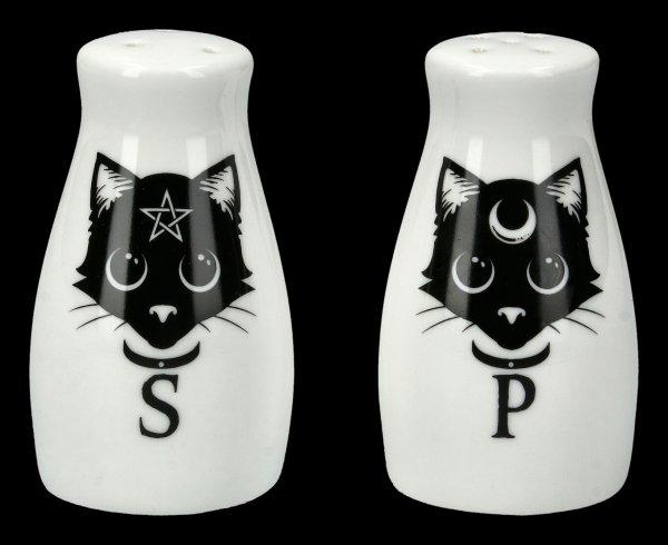 Salz- und Pfefferstreuer - Katzen Black Cats