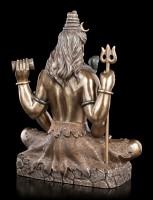 Hindu God - Seated Lord Shiva bronze
