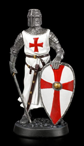 Kreuzritter Figur mit gesenktem Schwert