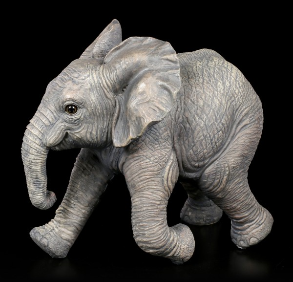 Gartenfigur - Rennender Baby Elefant