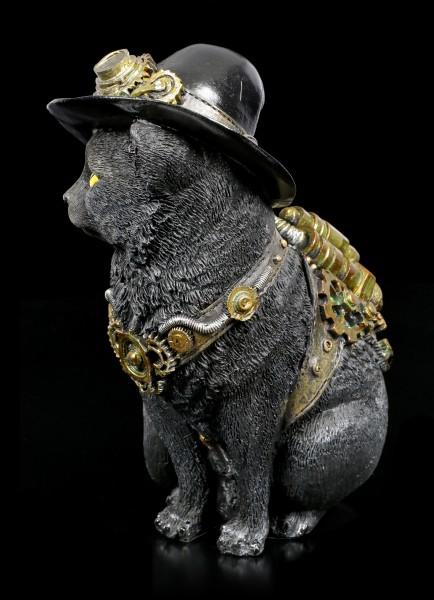 Steampunk Cat Figurine - Clockwork Kitty