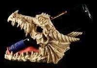 Bottle Holder - Dragon Skull
