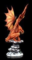 Dragon Figurine - Soulfire on Snowy Landscape