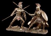 Hektor Figur - Mit Speer und Schild zum Angriff