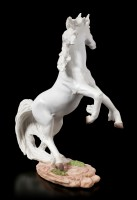 White Unicorn Figurine Rising