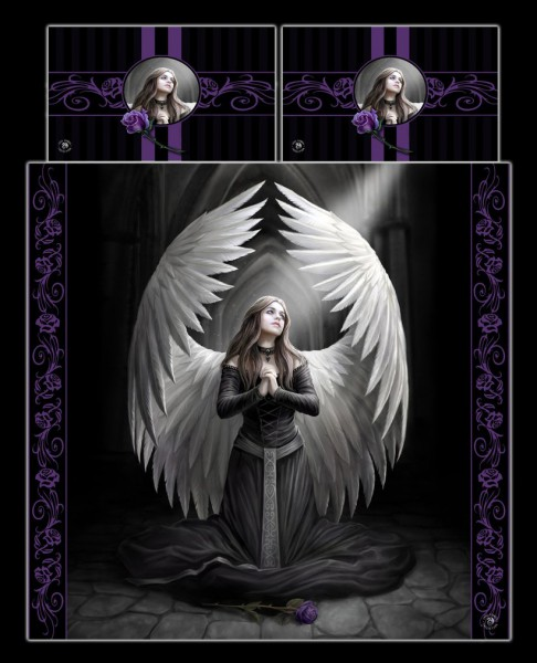 Fantasy Doppel-Bettwäsche Engel - Prayer For The Fallen by Anne Stokes