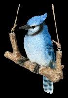 Vogel Figur - Blauhäher auf Ast