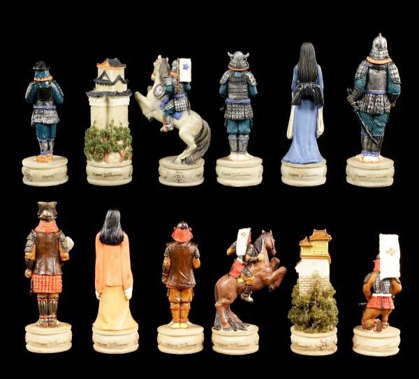 Schachfiguren Set - Samurai Krieger