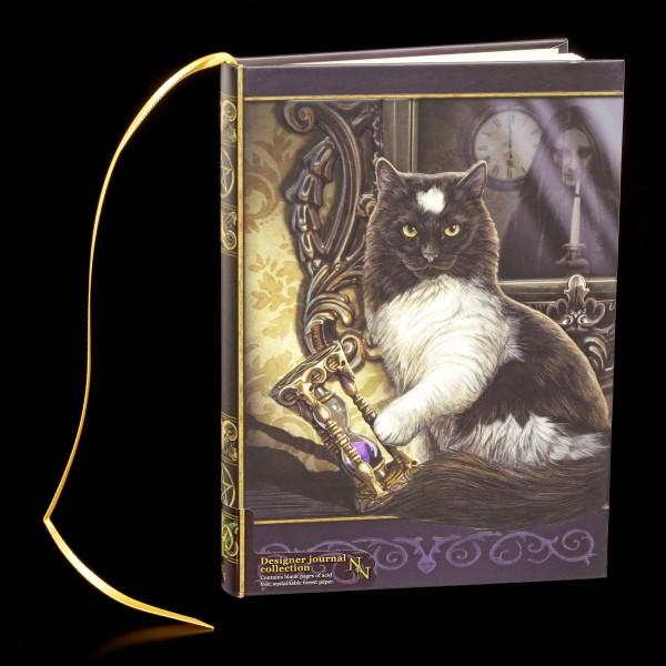 Notizbuch mit Katze - Time's Up