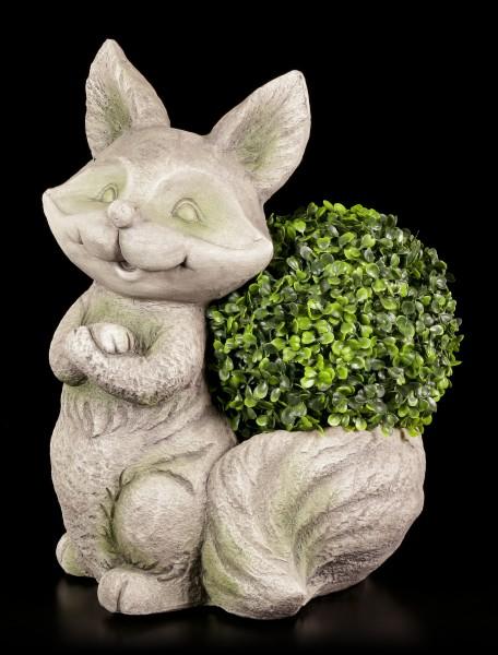 Gartenfigur - Fuchs als Pflanzentopf