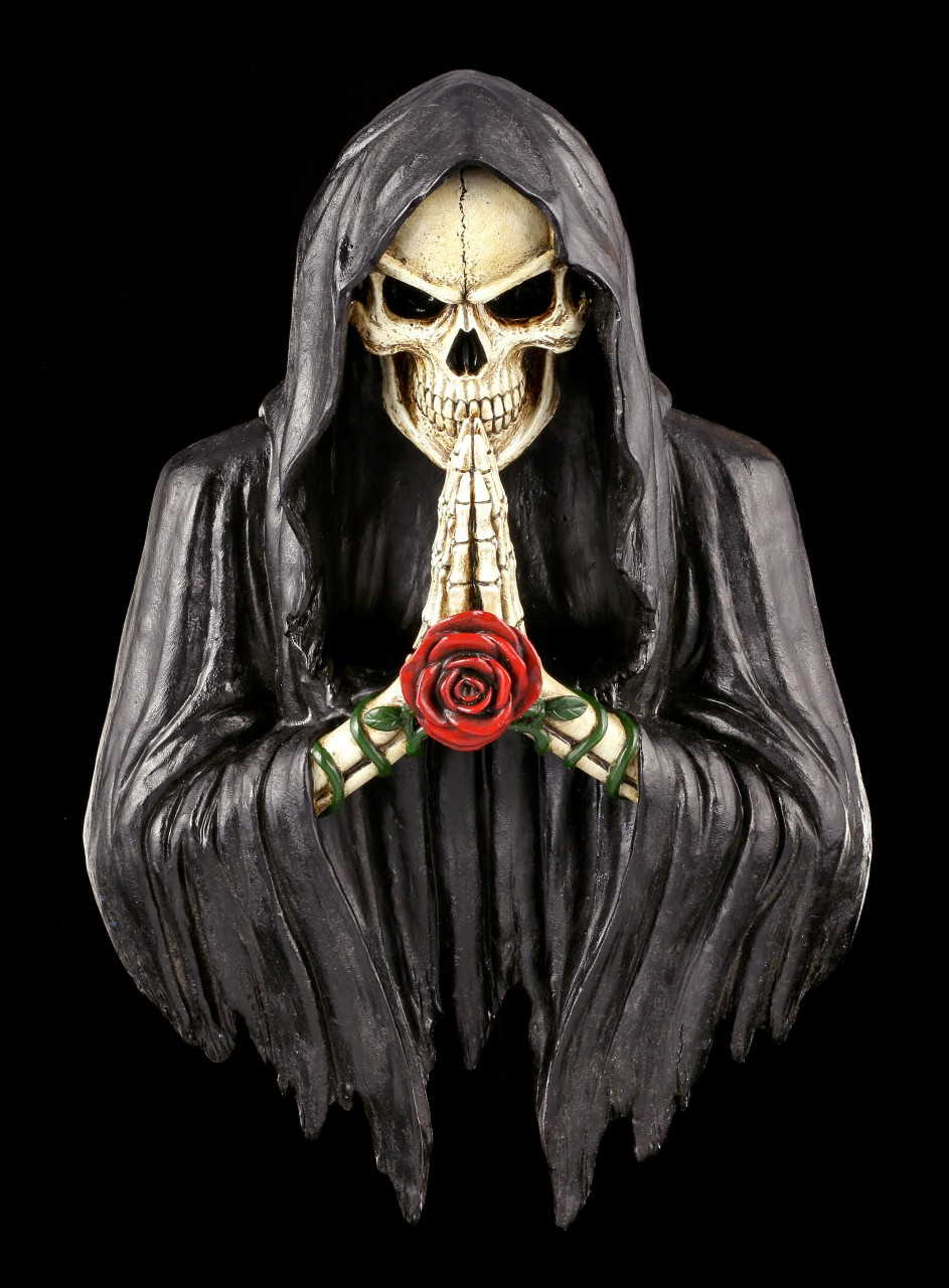 Reaper Wall Plaque - Rose of Death