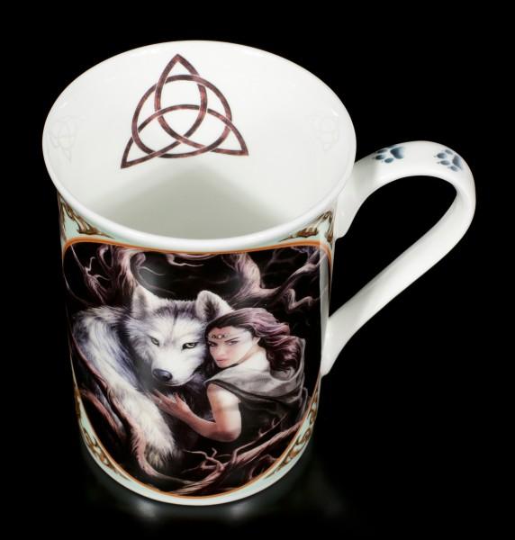 Porzellan Tasse mit Wolf - Soul Bond