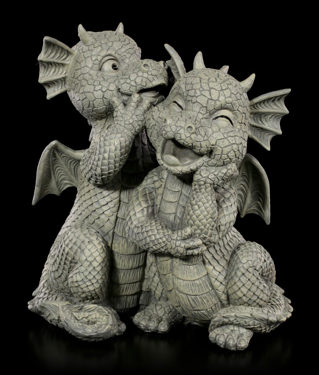 Dragon Couple Garden Figurines - Love Whispers