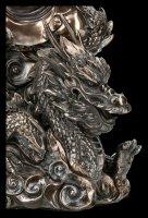 Chinese God Figurine - Kwan Yin riding on Dragon