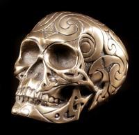 Totenkopf - Celtic Skull bronze klein