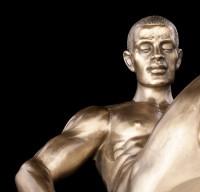 Männliche Akt Figur - Zur Seite drehend - groß