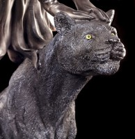 Large Fairy Figurine with black Panther