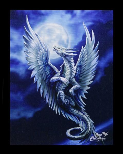 Kleine Leinwand Silberdrache - Silver Dragon