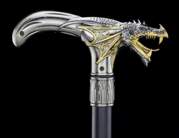 Swaggering Cane - Dragon Head - Metal