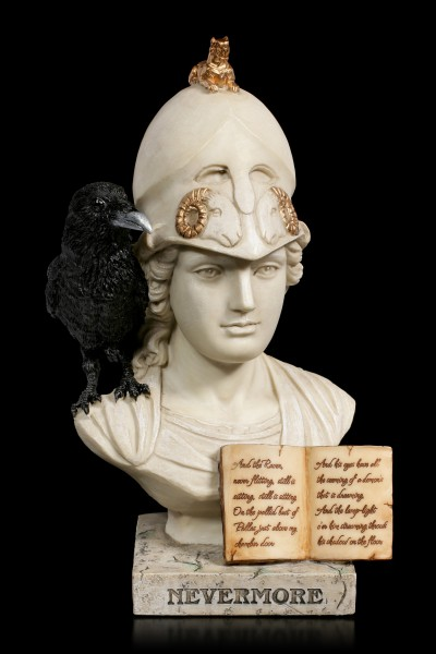 Pallas Athena Bust - Nevermore The Raven