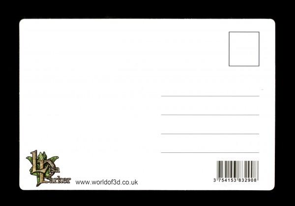 3D Postkarte mit Eule - Spell Keeper