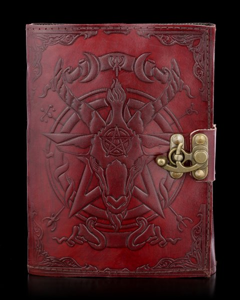 Leather Journal with Clasp - Baphomet