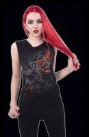 Burnt Rose - Spiral Gothic Women Top