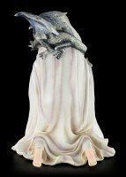 White Witch Figurine with Dragon - LED