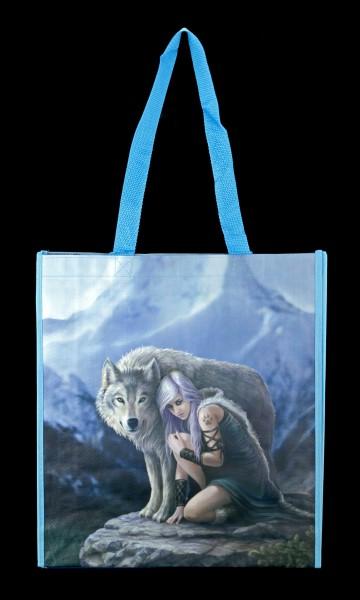 Einkaufstasche mit Wolf - Protector
