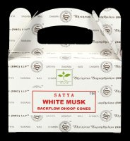 Backflow Incense Cones - White Musk by Satya