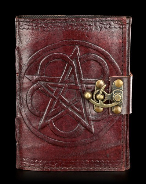 Leather Journal - Pentagram with Lock