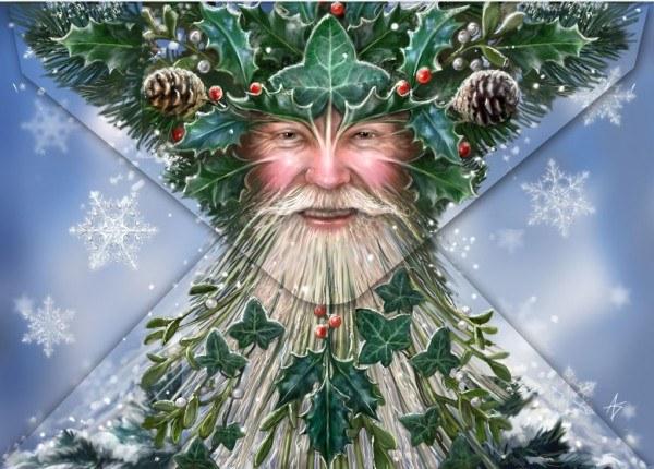Fantasy Weihnachtskarte Drache - Little Helpers
