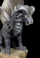 Dark Rock Dragon Figurine