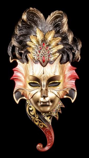 Venezianische Maske mit Federn - Karneval