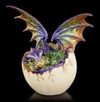 Dragon Figurine colorful - Imoogi in Eggshell