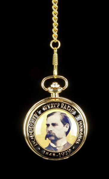 Taschenuhr - Western Rund Wyatt Earp goldfarben
